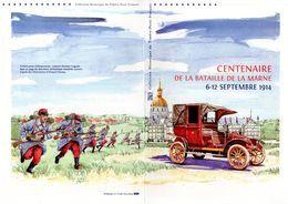 """"""" CENTENAIRE DE LA BATAILLE DE LA MARNE """" Sur Doc Philatélique Officiel 4 Pages De 2014 N°YT F4899. Parfait état DPO - 2010-...."""