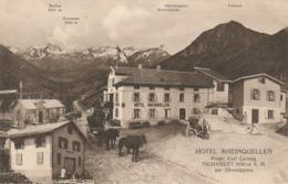 HOTEL RHEINQUELLEN TSCHAMUTT AM OBERALPPASS   KUTSCHE. - GR Graubünden