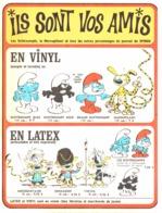 """PUB VINYL Et LATEX   """" SCHTROUMPF Et MARSUPILAMI   """"  1965 ( 1 ) - Figurine In Plastica"""