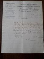 L24/100 Lettre Ancienne. Paray Le Monial. Travaux De Batiments . Lavenir - Corbiere . 1917 - 1900 – 1949