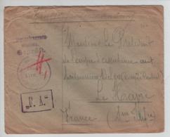 PR7310/ Lettre PDG-POW Prisonnier Belge Geprüft F.A. > Le Havre C.d'arrivée 1917 - WW I