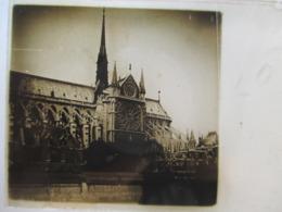 PARIS - NOTRE DAME DE PARIS - Notre Dame Vue Du Quai  -  Plaque De Verre Stéréoscopique 46x107 - Années 20/30 - TBE - Diapositivas De Vidrio