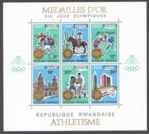 Rwanda 1968 Mi# Bl.15-17** OLYMPIC GAMES, MEXICO 1968 - 1962-69: Nuevos