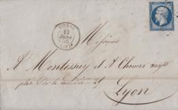 Frankreich Brief EF Minr.13 Vienne 12.1.56 - 1853-1860 Napoleone III