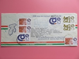 Enveloppe Par Avion Mexique - XXII Feria Tapachula 1984 - 4 Timbres YT N° 919 / 860 / 861 - Tampon Bleu Jour Du Facteur - México