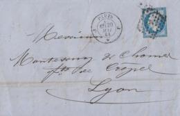 Frankreich Brief EF Minr.13 Paris 20.5.61 - 1853-1860 Napoleone III
