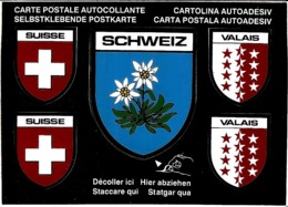 SUISSE VALAIS SCHWEIZ CARTE AUTOCOLLANTE - VS Valais