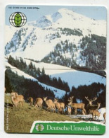 TK 12096 GERMANY - O062+O063 01.94 8.300 Ex. Deers - 2 Card Puzzle - Puzzles