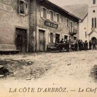 ↂ 74 LA CÔTE D'ARBRÔZ CHEF-LIEU 1911 HÔTEL CARTE POSTALE ANCIENNE RARE CPA HAUTE-SAVOIE ALPES TAXE SUISSE GENEVE - Evian-les-Bains