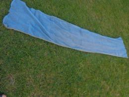 Rideau Bleu Avec Pampilles Bois-ancien- Sur Le Cote 52x240 Pour Loisirs Creatifs - - Drapery