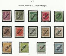 Allemagne Service 1923 N° 48 à 61 Oblitérés - Oficial