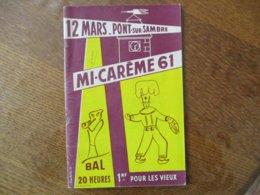 PONT SUR SAMBRE MI-CARÊME 61 12 MARS PROGRAMME - Programme