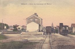 CPA - 91 - MILLY LA FORET - Gare Du Tramway De Melun - Milly La Foret