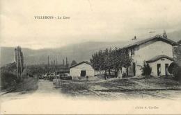 - Charente -ref-B857- Villebois Lavalette - La Gare - Gares - Ligne De Chemin De Fer - Carte Bon Etat - - Autres Communes