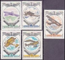 """1976-(MNH=**) Russia S.5v.""""aerei Primordiali""""catalogo Euro 2,5 - 1923-1991 USSR"""