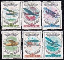 """1977-(MNH=**) Russia S.6v.""""aerei Primordiali""""catalogo Euro 3 - 1923-1991 USSR"""