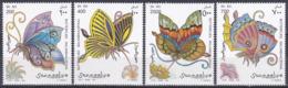 Somalia 1997 Tiere Fauna Animals Schmetterlinge Butterflies Papillion Mariposa Farfalle Insekten Insects, Mi. 636-9 ** - Somalia (1960-...)
