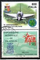 """PIA - ITA -1998:Esposiz. Mondiale Di Filatelia """"Italia 98"""" :Giornata Delle Forze Armate -Aeronautica Militare (SAS 2374) - Aerei"""