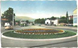 CPSM DE SAINT-CHAMOND  (LOIRE)  ROND-POINT DE L'AUTOROUTE ALLANT A SAINT-ETIENNE - Saint Chamond