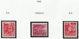 Allemagne N° 824 à 826 De 1945 Neufs Avec Charnière - Militaire Soldat Guerre WW2 - Germany