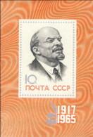 """1965-(MNH=**) Russia Foglietto 1v.""""Anniversario Rivoluzione D'ottobre,Lenin""""catalogo Euro 4,5 - 1923-1991 USSR"""