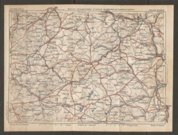 CARTE PLAN 1928 - BOULAY FAULQUEMONT St AVOLD SARREBRUCK SARREGUEMINES SAAR UNION - Carte Topografiche