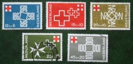 Rode Kruiszegels Red Cross Rotes Kreuz NVPH 889-893 (Mi 883-887) 1967 Gestempeld / USED NEDERLAND / NIEDERLANDE - Gebraucht