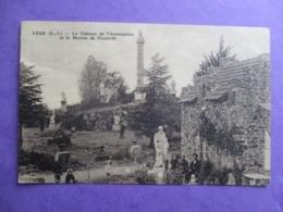 CPA 44 LEGE LA COLONNE DE L'ASSOMPTION ET LA MAISON DE NAZARETH ANIMEE - Legé