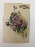 Carte Postale Ancienne  Signée Catharina KLEIN Bouquet De Violettes St Eloi - Klein, Catharina