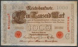 P44a Ro 45a DEU-40a  6 Chifres N°936246 B  *** AUNC *** Lettre C  1000 Mark 1910 - [ 2] 1871-1918 : German Empire