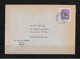 1952 HEIMAT AARGAU → Umschlag Dr.med.Th.Siegrist Rothrist Nach Zürich 8 - Pro Juventute