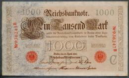 P44a Ro 45a DEU-40a  6 Chifres N°936247 B  *** AUNC *** Lettre C  1000 Mark 1910 - [ 2] 1871-1918 : German Empire