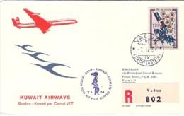 1964-Liechtenstein Aerogramma Raccomandato Vaduz Kuwait - Poste Aérienne