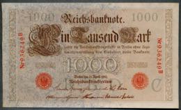 P44a Ro 45a DEU-40a  6 Chifres N°936249 B  *** AUNC *** Lettre C  1000 Mark 1910 - [ 2] 1871-1918 : German Empire