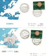 Y19a-b  Montecatini - Mirano - Mostra Europea Francobollo  19/9/1960 + 9/10/1960     TTB - 1946-60: Marcofilia