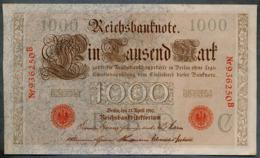 P44a Ro 45a DEU-40a  6 Chifres N°936250 B  *** AUNC *** Lettre C  1000 Mark 1910 - [ 2] 1871-1918 : German Empire