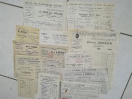 Lot De 67 Factures Et Documents Sur Le Cher - France