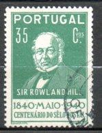 PORTUGAL Sir Rowland Hill 1940 N° 602 - 1910-... République