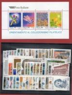Italia  1999 - Annata 1999 Completa  Sottofacciale MNH ** Leggere Descrizione - 6. 1946-.. República