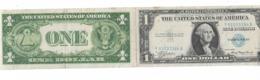 DOCUMENT ANTISEMITE FAUX BILLET DE 1 DOLLAR  AVEC PUB ANTISEMITE A L INTERIEUR 39 45 - Historical Documents