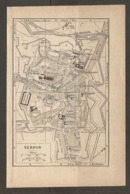 CARTE PLAN 1928 - VERDUN CASERNE D'ANTHOUARD BAINS USINE A GAZ  CASERNE JEANNE D'ARC - Topographical Maps