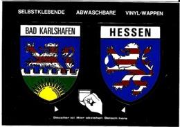 HESSEN BAD KARLSHAFEN CARTE AUTOCOLLANTE ÉCUSSON BLASON - Wiesbaden