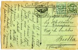 FLOREALE 25c. + LEONI 5c. Su Cartolina Postale Annullo Salsomaggiore - 1900-44 Vittorio Emanuele III