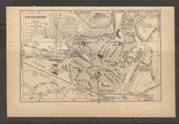 CARTE PLAN 1928 - CHAUMONT ECOLE NORMALE FAUBOURG DES TANNERIES GARE PROMENADE ESCARGOT - Topographical Maps