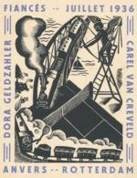 Verlovingskaart Dora Geldzahler & Carel Van Creveld Fiancés 1936 - Dora Geldzahler - Fiançailles
