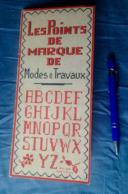 LES POINTS DE MARQUE DE MODES & TRAVAUX POINT DE MARQUE RECKO CARTIER-BRESSON BRODERIE BRODEUSE CROIX KRUISSTEEK DMC R24 - Stickarbeiten