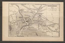 CARTE PLAN 1928 - REMIREMONT GARE TRAMWAYS DE GERARDMER LE CALVAIRE FILATURE CASERNE GOBERT - Topographical Maps