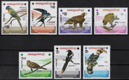 KAMPUTCHEA - OISEAUX - N° 412 A 418 ET 737 A 743 - NEUF** - Oiseaux