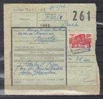 Vachtbrief Met Stempel Solre Sur Sambre - 1942-1951