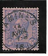 Belgique N 48 Tamines Très Belle Oblitération, Met Prachtige Afstempeling - 1884-1891 Léopold II